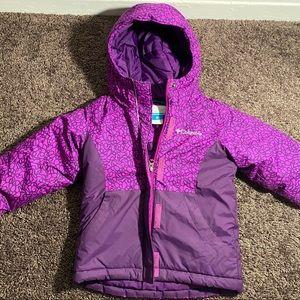 Kids purple Columbia Purple bubble jacket